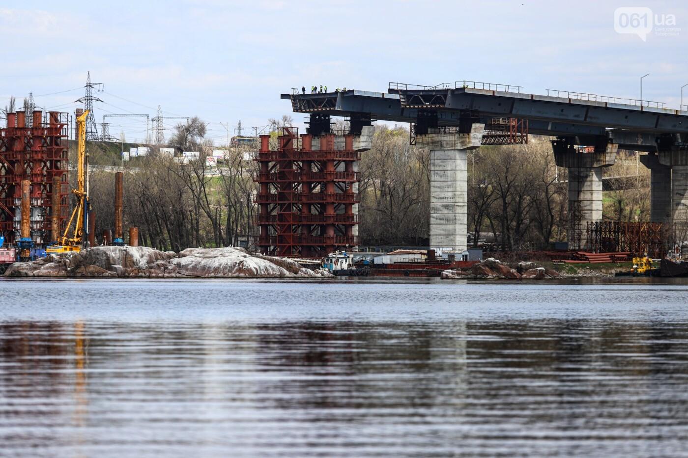 В Запорожье монтируют первый блок вантового моста, - ФОТОРЕПОРТАЖ, фото-10
