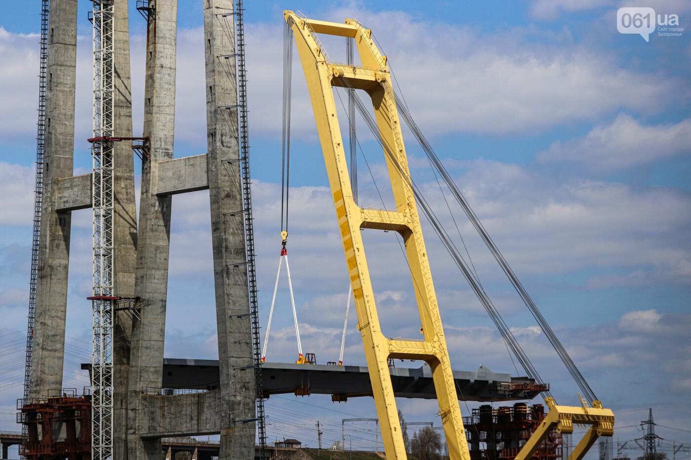В Запорожье монтируют первый блок вантового моста, - ФОТОРЕПОРТАЖ, фото-7