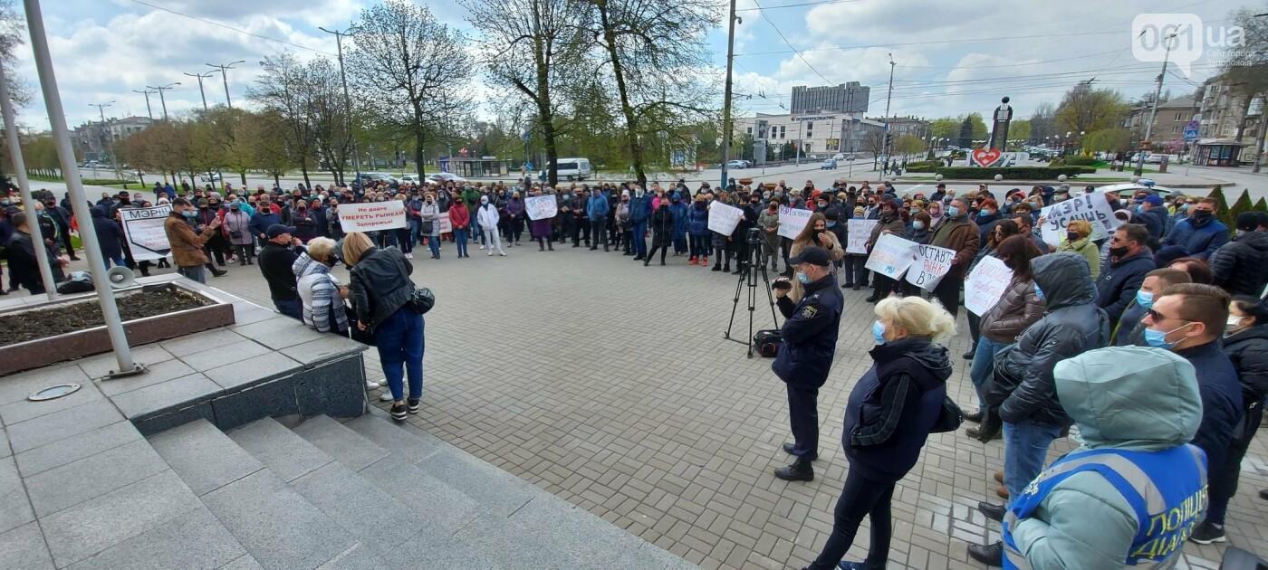В Запорожье рыночники пикетировали мэрию и перекрыли проспект, - ФОТОРЕПОРТАЖ , фото-9
