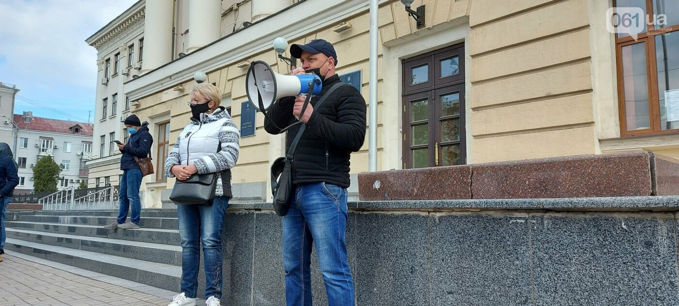 В Запорожье рыночники пикетировали мэрию и перекрыли проспект, - ФОТОРЕПОРТАЖ , фото-11