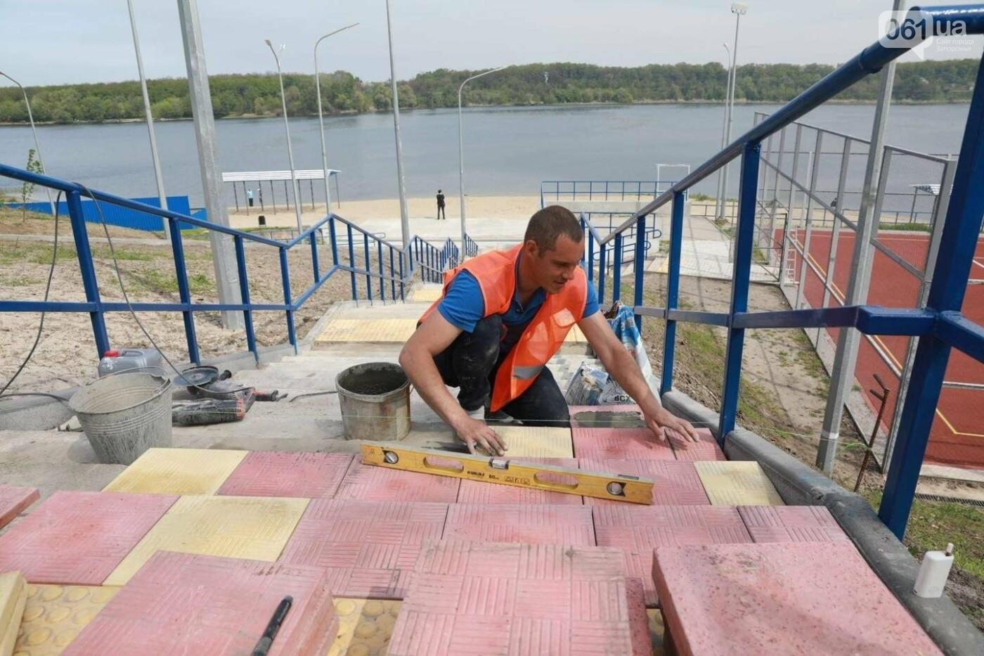 4 года и 25 миллионов гривен: в Запорожье завершается многострадальная реконструкция пляжа на Кичкасе, фото-5