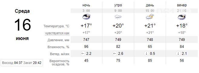 screenshot31 60c66816bac5b - Запорожцев ожидает еще одна дождливая неделя, - погода в Запорожье с 14 по 18 июня