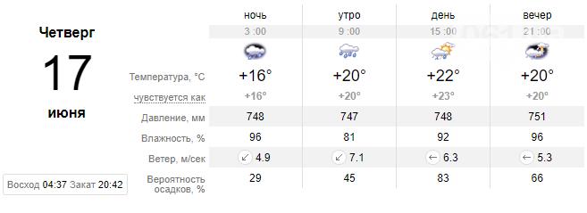 screenshot32 60c66817437b2 - Запорожцев ожидает еще одна дождливая неделя, - погода в Запорожье с 14 по 18 июня