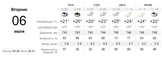 screenshot29 60e1ee9fd3f02 - Погода в Запорожье не спешит радовать жителей: на неделе вновь обещают дожди