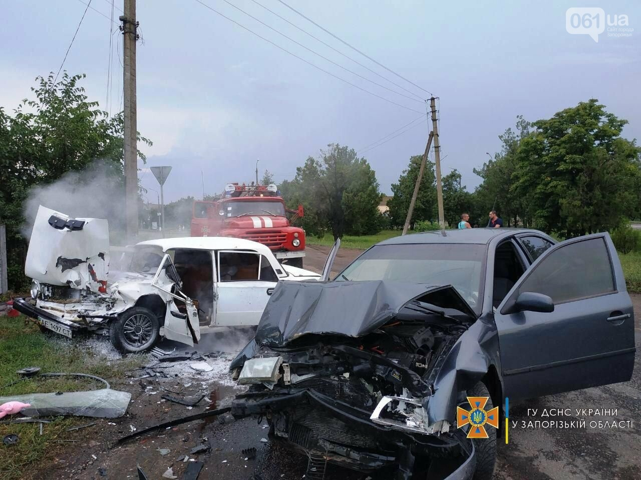 photo2021 07 1308 29 55result 1 60ed3da990a42 - В Бердянском районе не поделили дорогу два легковых авто: в ДТП пострадали 5 человек, - ФОТО