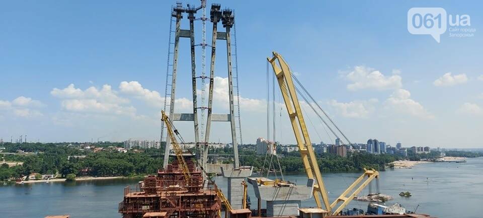 Строительство вантового моста в Запорожье: плавкран установил четвертую секцию, - ФОТО, фото-4