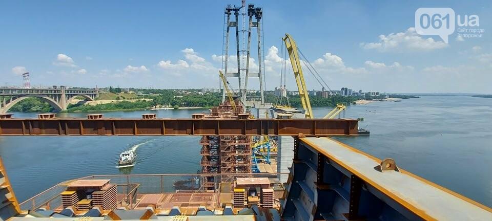 Строительство вантового моста в Запорожье: плавкран установил четвертую секцию, - ФОТО, фото-5