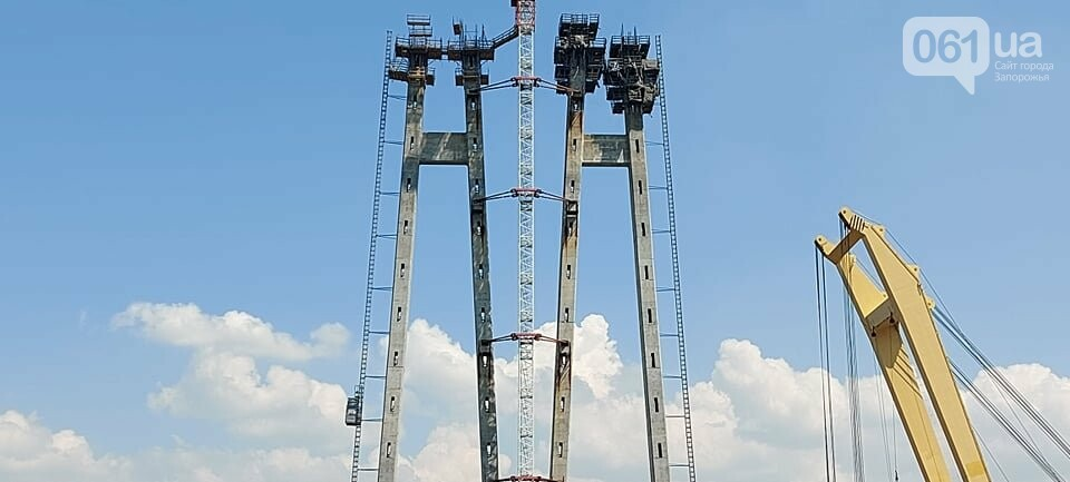 Строительство вантового моста в Запорожье: плавкран установил четвертую секцию, - ФОТО, фото-10