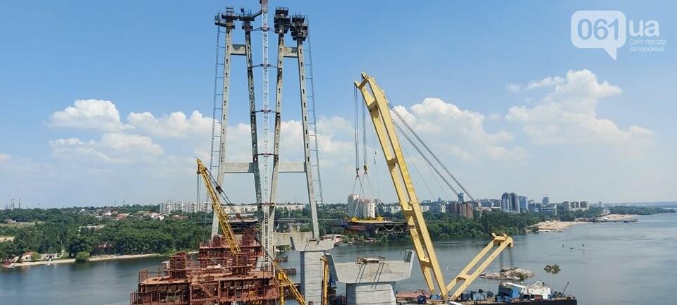 Строительство вантового моста в Запорожье: плавкран установил четвертую секцию, - ФОТО, фото-6