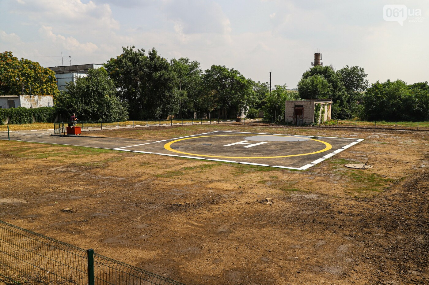 img9703 611e50b9dead3 - В Запорожской областной больнице построили вертолетную площадку для санавиации, - ФОТОФАКТ