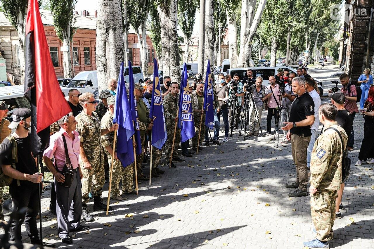 Сербу - за грати: «Європейська Солідарність» організувала мітинг з вимогою змінити запобіжний захід підозрюваному у побитті патріотів, фото-7