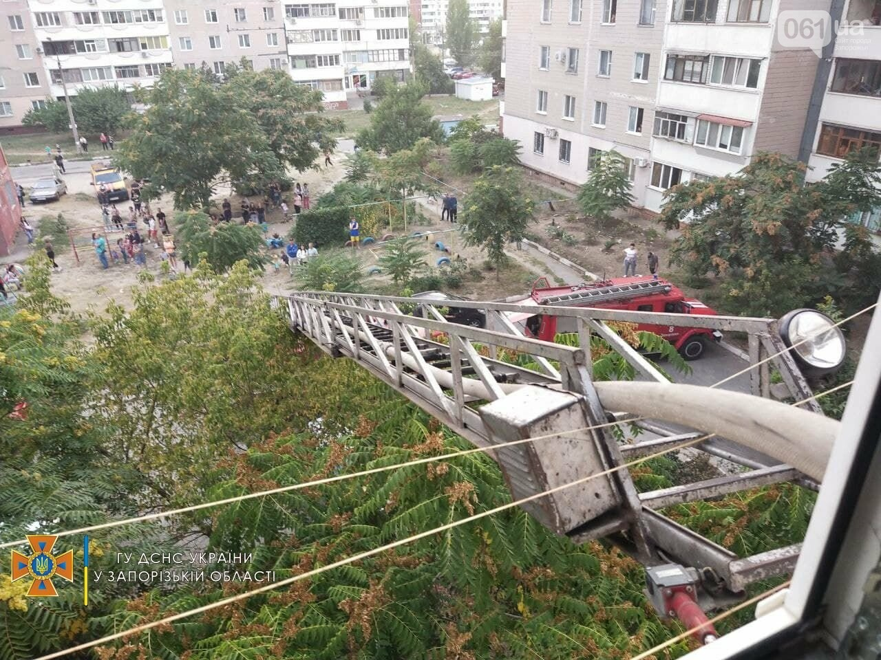 photo2021 09 1210 14 19result 613dd237638bf - В Запорожье 18 спасателей тушили пожар в девятиэтажке, - ФОТО