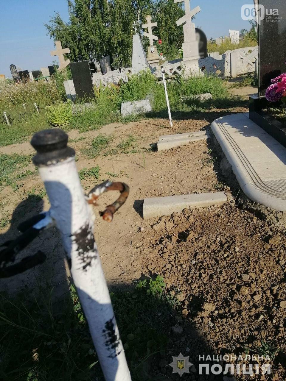В Запорожской области мужчине грозит 7 лет тюрьмы за надругательство над могилами, фото-1