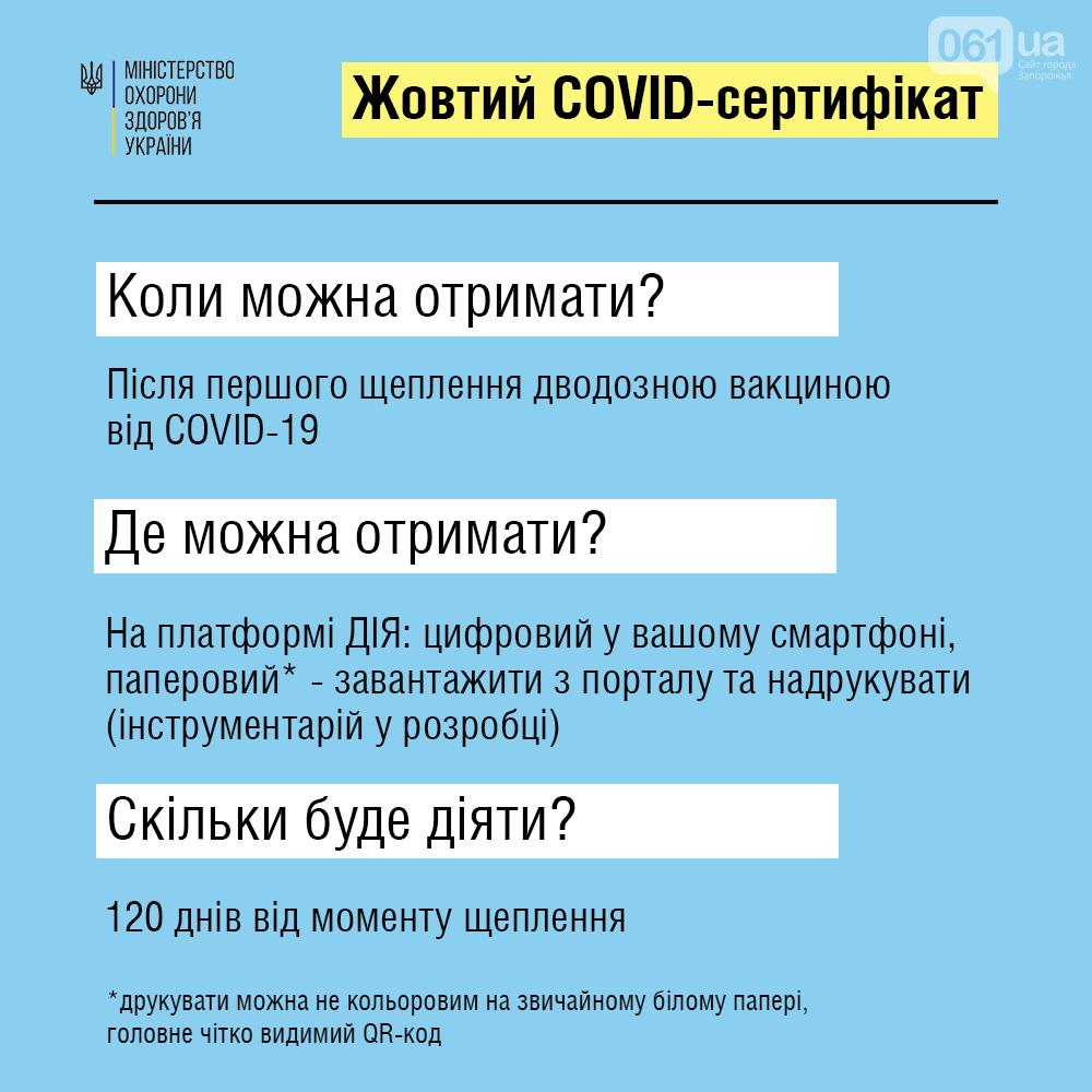 """Кабмин ввел """"желтый"""" и """"зеленый"""" COVID-сертификаты: что это значит , фото-1"""