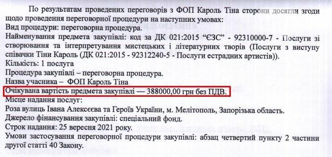 screenshot62 6142ee8ebf991 - Концерт Тины Кароль на День города обойдется бюджету Мелитополя почти в 400 тысяч гривен