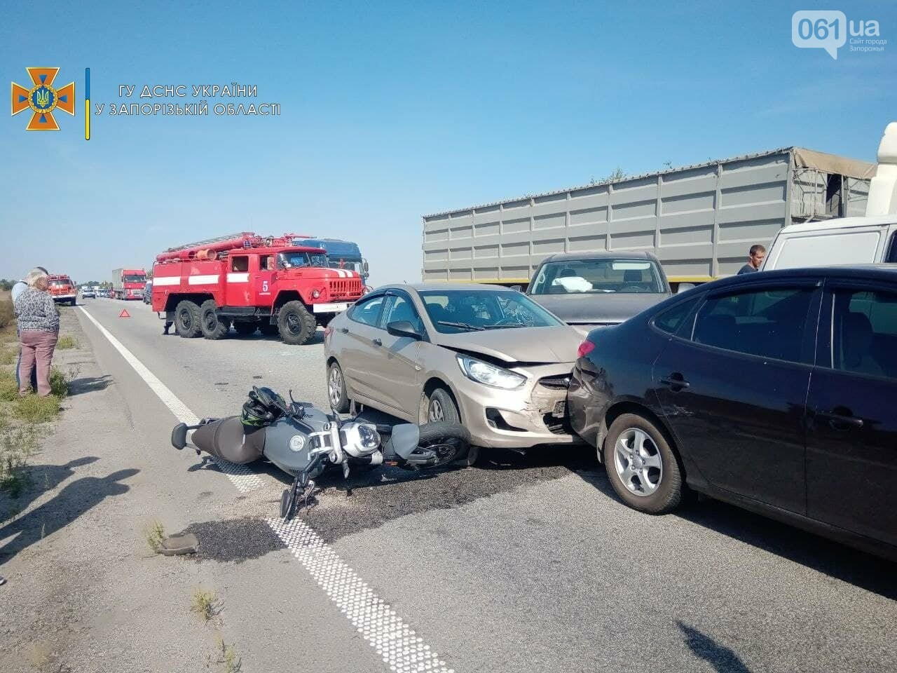photo2021 09 1714 11 06result 61459dd9b1e96 - На запорожской трассе из-за дыма от пожара столкнулись пять автомобилей