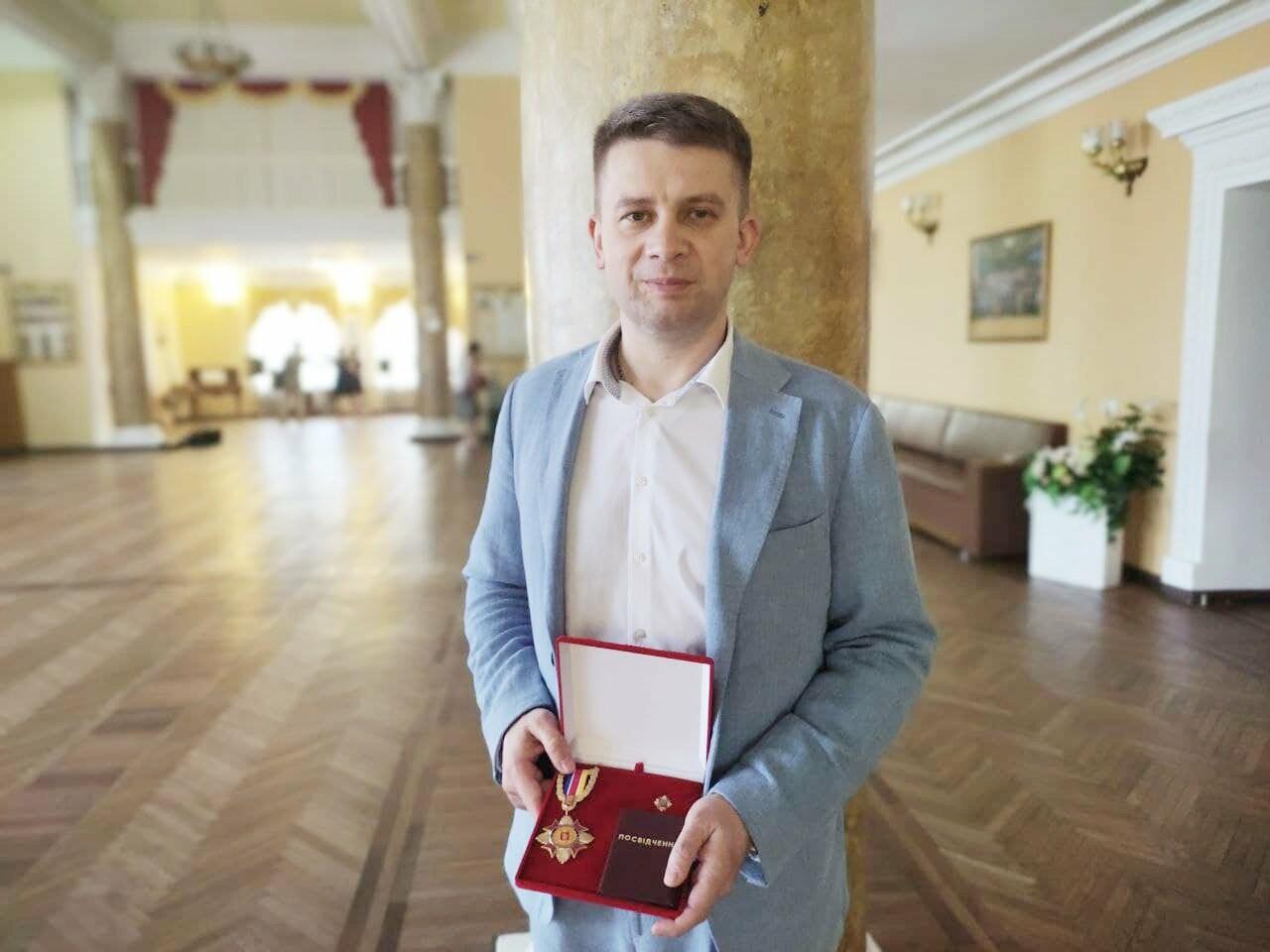 Дмитрий Майстро после награждения