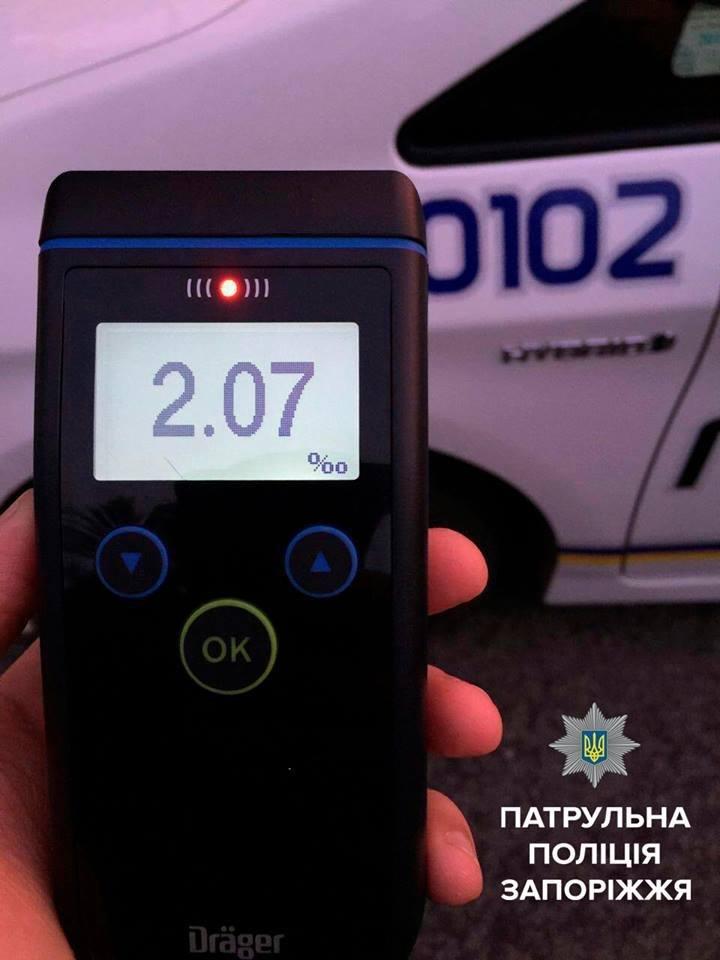 В Запорожье во второй раз задержали пьяного водителя - без прав, - ФОТО, фото-1