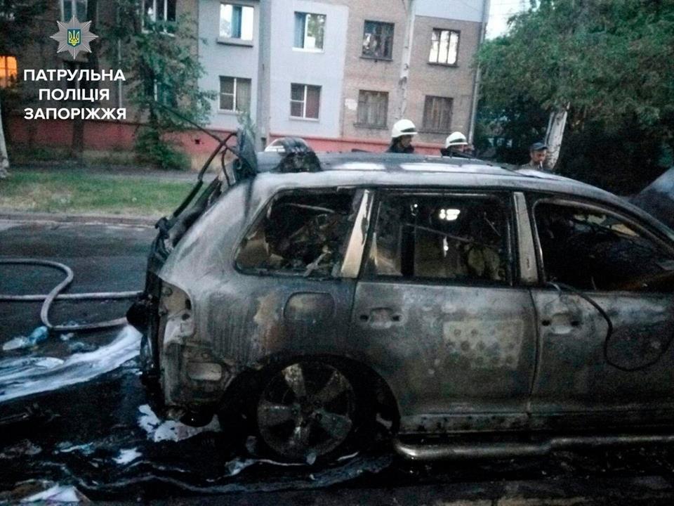 В центре Запорожья сгорели Volkswagen, Audi и BMW, - ФОТО, фото-3