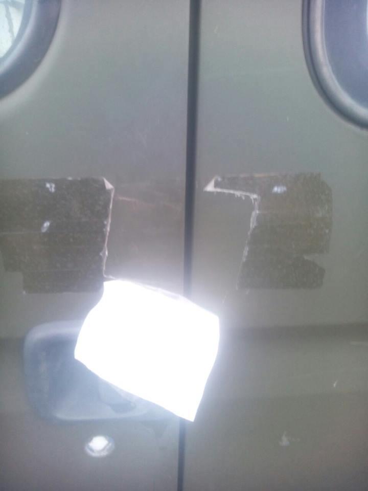 В Запорожской области прямо на территории отделения полиции ограбили волонтерский автобус, - ФОТО, фото-1