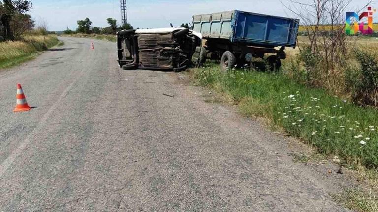 В Запорожской области «Таврия» врезалась в трактор: водитель в коме, – ФОТО, фото-1