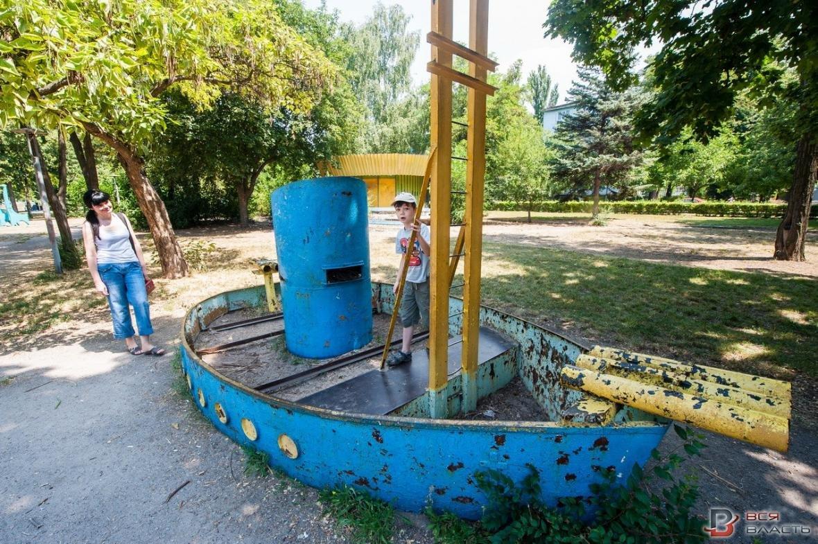 В одном из парков Запорожья демонтируют советские аттракционы, - ФОТО, фото-3