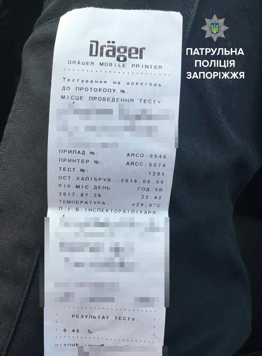 В Запорожье пьяный водитель пытался спрятаться от полицейских в подъезде, – ФОТО, фото-1