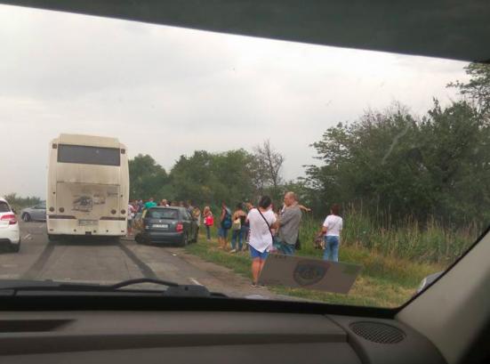 На запорожской трассе автобус с пассажирами попал в ДТП , - ФОТО, фото-2