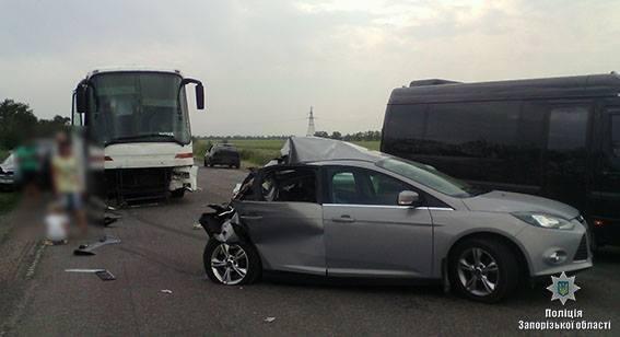 В результате ДТП на запорожской трассе погиб водитель легковушки, - ФОТО, фото-1