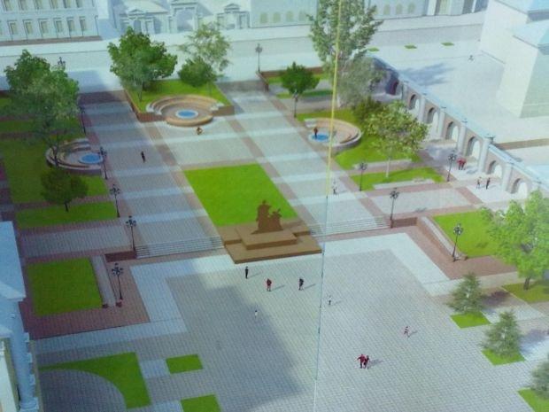 В Запорожье за 10 миллионов реконструируют площадь против театра имена Магара, фото-1