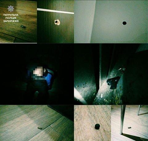 В Запорожском кафе мужчина расстрелял дверь, за которой находилась женщина, - ФОТО, фото-1