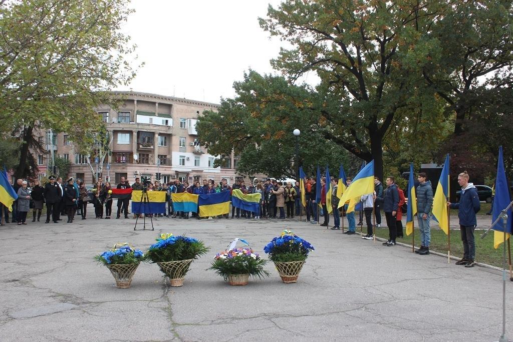 В Запорожье провели митинг ко Дню защитника Украины, — ФОТОРЕПОРТАЖ, фото-2