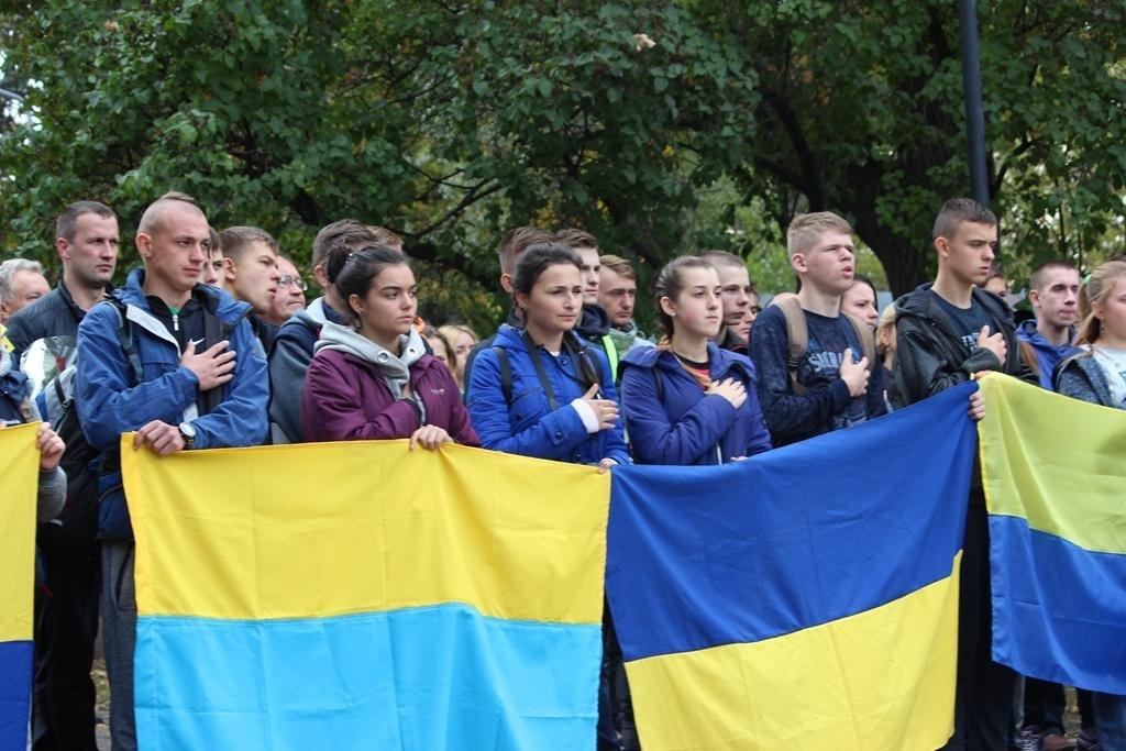 В Запорожье провели митинг ко Дню защитника Украины, — ФОТОРЕПОРТАЖ, фото-9