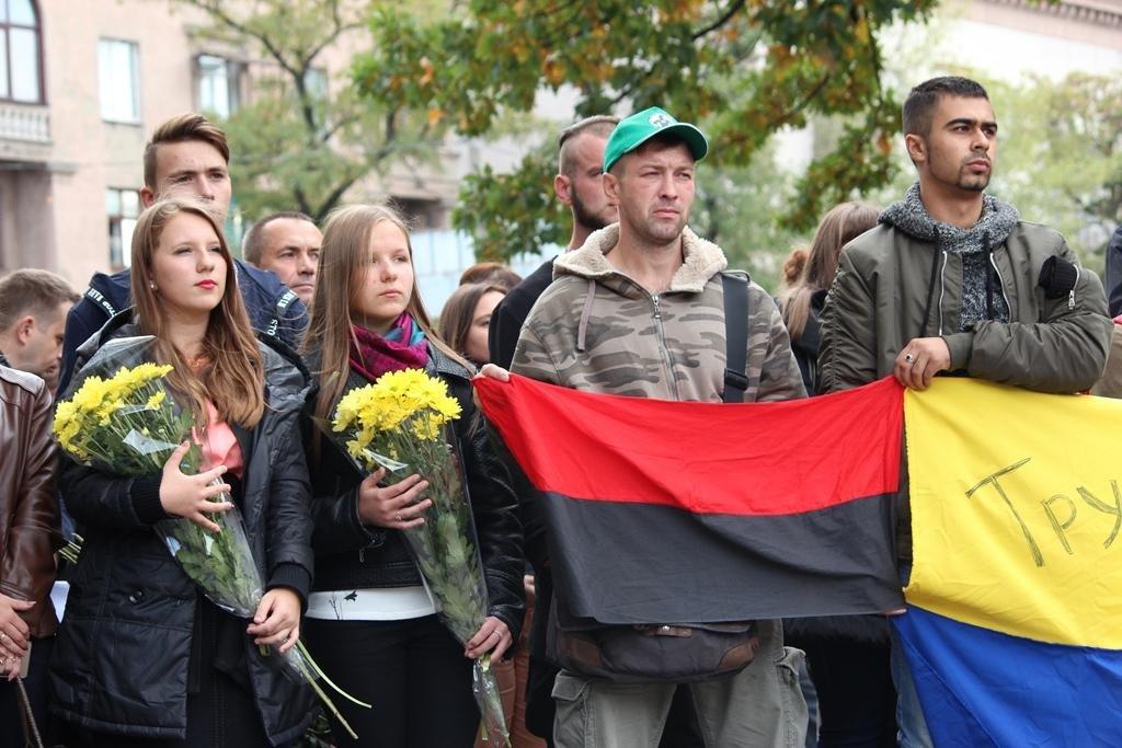 В Запорожье провели митинг ко Дню защитника Украины, — ФОТОРЕПОРТАЖ, фото-8