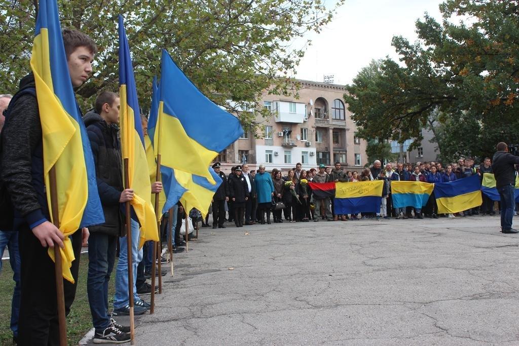 В Запорожье провели митинг ко Дню защитника Украины, — ФОТОРЕПОРТАЖ, фото-7