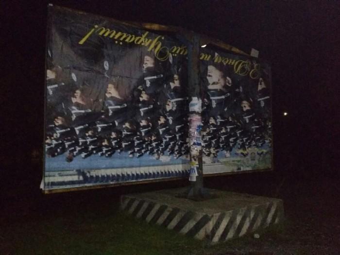 В Запорожской области сильный ветер повредил рекламный щит, - ФОТОФАКТ, фото-1