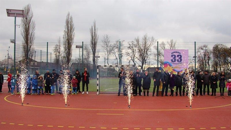 В школе Заводского района открыли очередной стадион, - ФОТО, фото-1