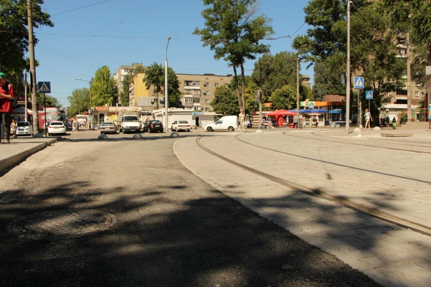 В Запорожье заканчивают ремонт-долгострой трамвайного пути на Кичкасе, – ФОТО, фото-1