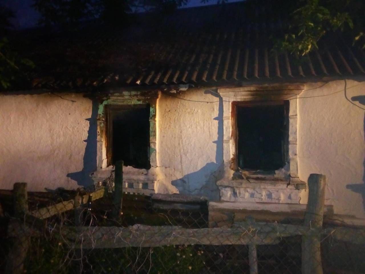 В Запорожской области в результате пожара пострадала хозяйка дома, фото-1
