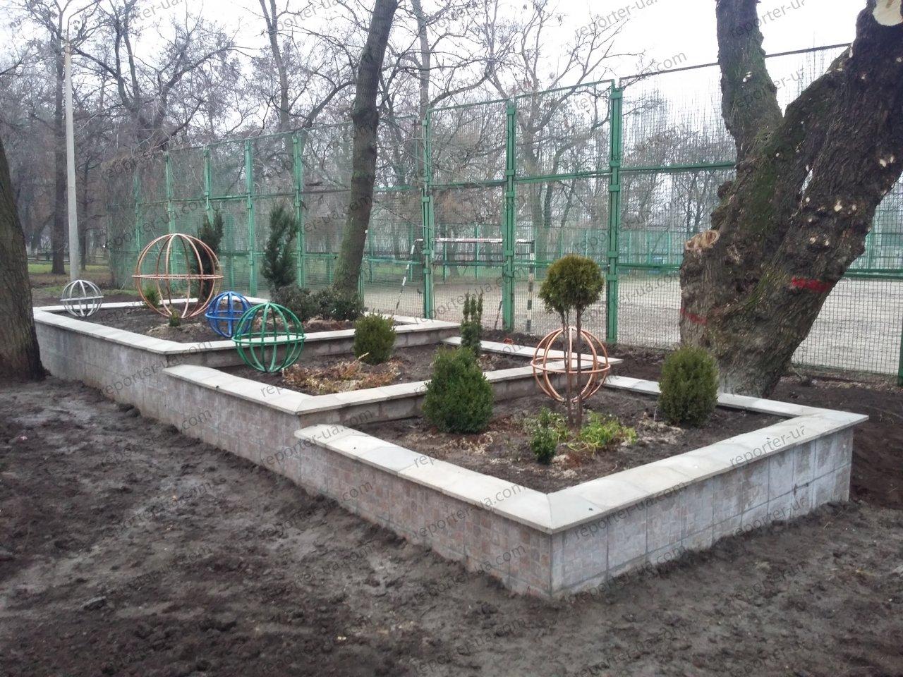 Спустя полгода после открытия в новом запорожском сквере засохла вся зелень: ее забыли поливать, – ФОТО, фото-1
