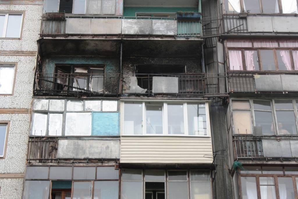 Пожар в Запорожье: горели два балкона и жилая комната, - ФОТО, фото-1