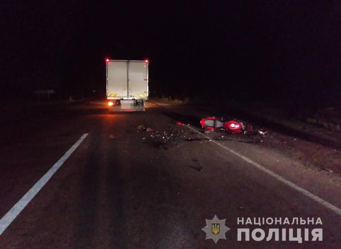 Под Мелитополем в ДТП на трассе погиб мотоциклист, – ФОТО, фото-1