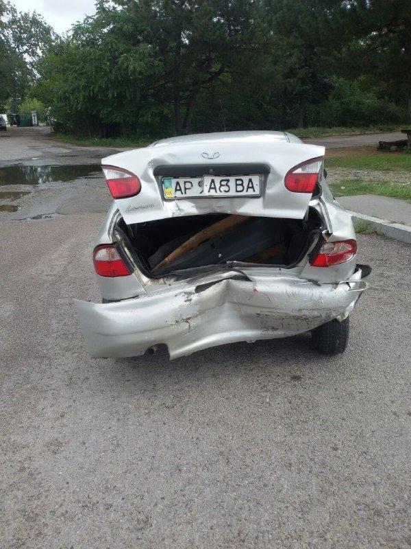 В Запорожье на Хортице водитель врезался в припаркованный Ланос, – ФОТО, фото-5
