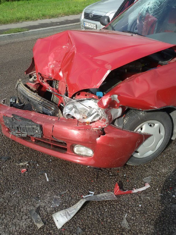 В Запорожье на Хортице водитель врезался в припаркованный Ланос, – ФОТО, фото-6