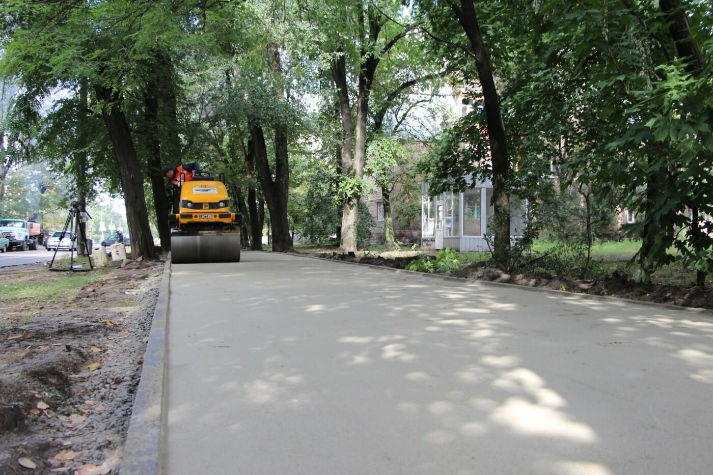 В Запорожье ремонтируют тротуары в районе проспекта Металлургов, - ФОТО, фото-4