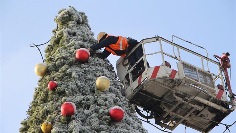 В Запорожье разбирают главную елку города, - ФОТО, фото-1