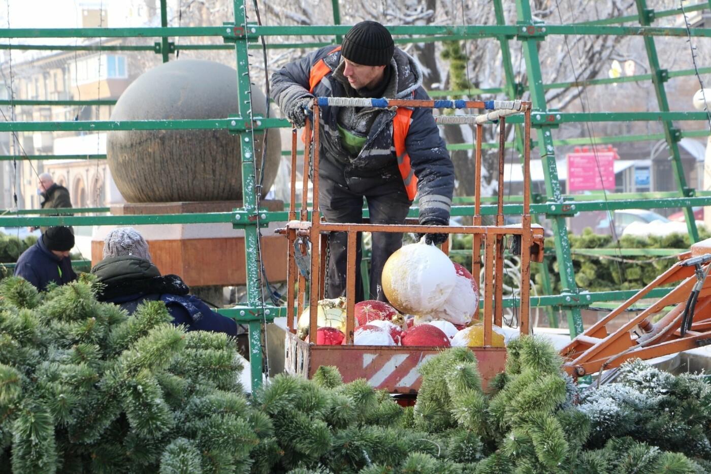 В Запорожье разбирают главную елку города, - ФОТО, фото-7