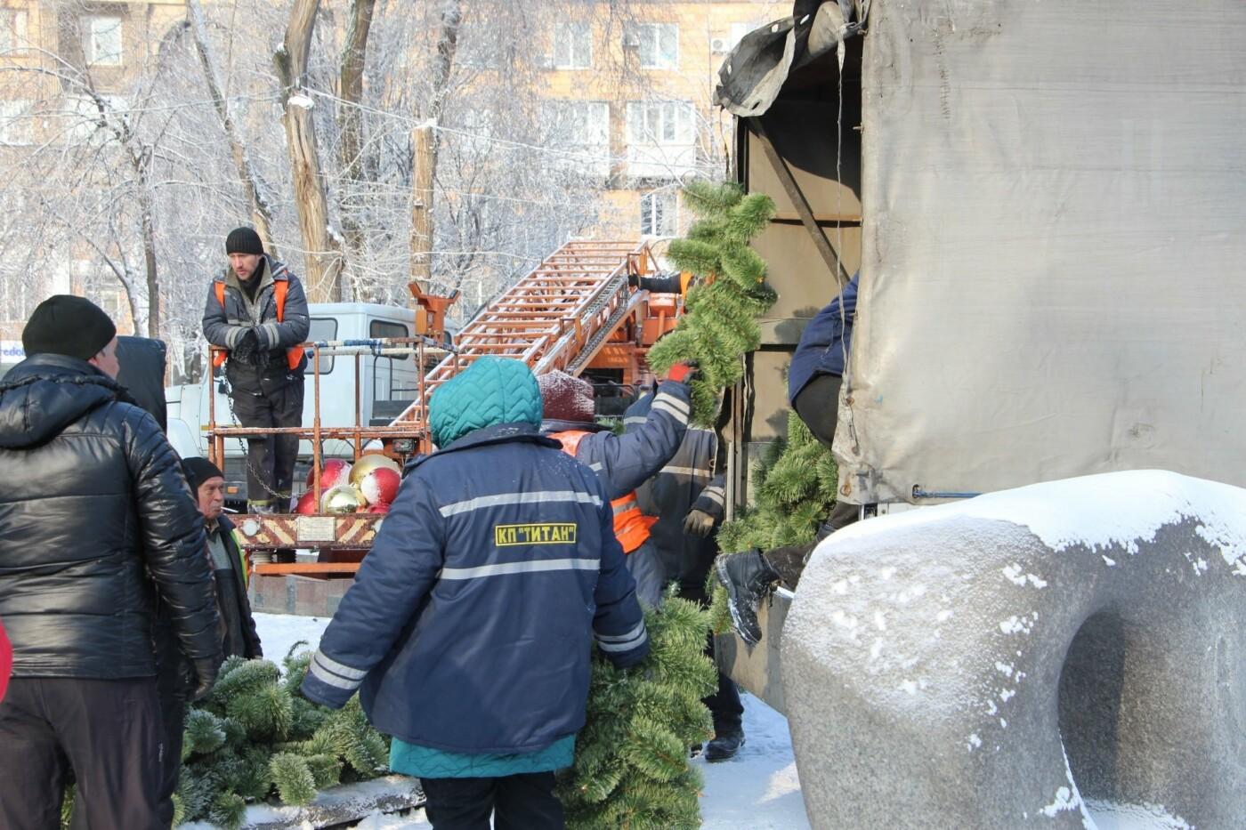 В Запорожье разбирают главную елку города, - ФОТО, фото-6