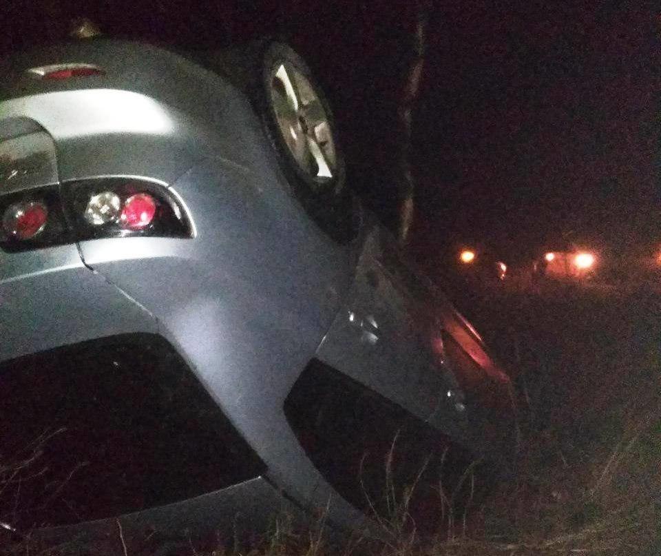 В Запорожской области Mazda вылетела в кювет и перевернулась, – ФОТО, фото-1