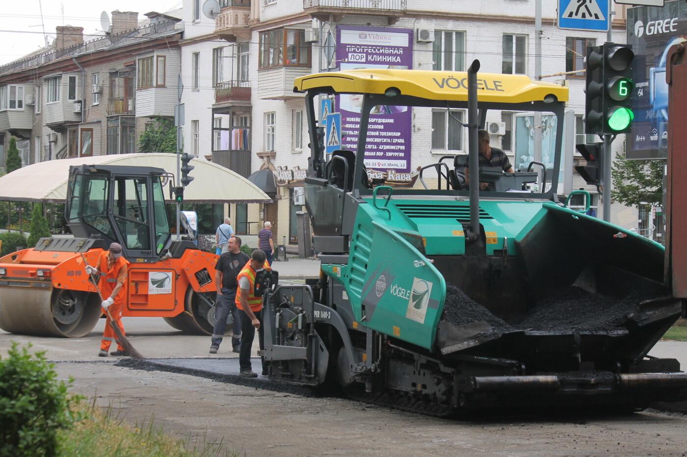 Команда Владимира Буряка продолжает масштабный ремонт дорог в Запорожье, фото-4